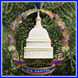 2007 U.S. Capitol Marble Dome & Wreath Ornament