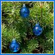 Cobalt Blue Crystal Glass Two Inch Ornament Ball (set of 3) - Wholesale