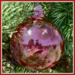 Cranberry Red Crystal Glass Three Inch Ornament Ball - Wholesale