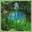 Lime Green Crystal Glass Optic Three Inch Ornament Ball - Wholesale