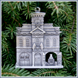 Pewter 1906 Firehouse Relief Ornament