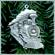 Pewter Christmas Express Train Ornament