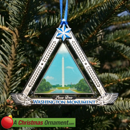 George Washington Monument Holiday Ornament